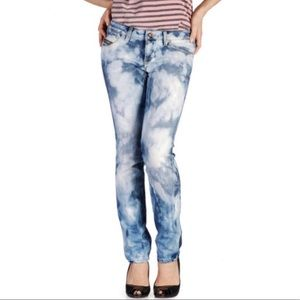 💙Diesel Cuddy Jeans Blue White Women's Italy💙